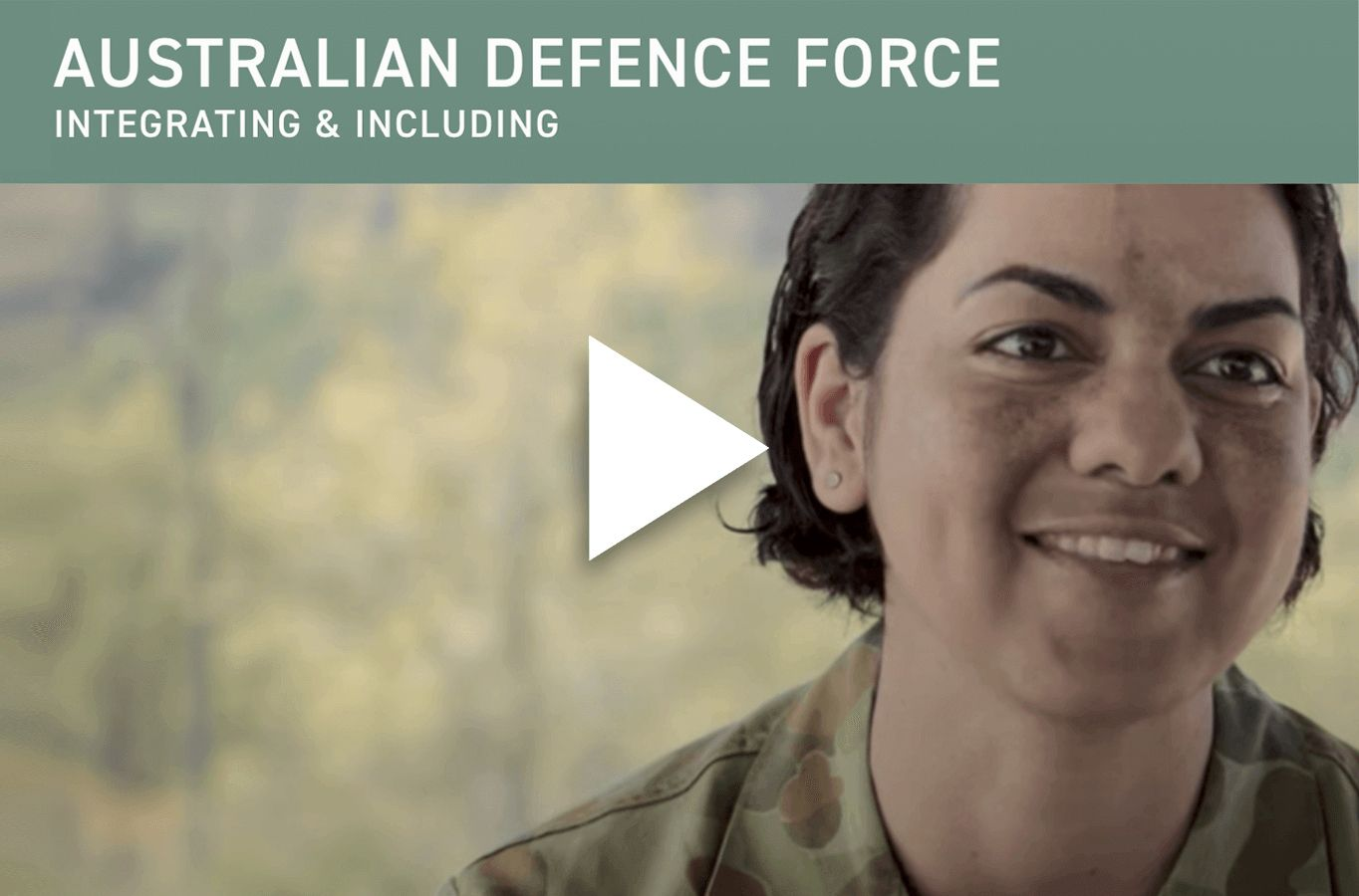 Australian Defence Force Integrating & Including video